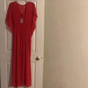 Dress. New. Beautiful. Coral